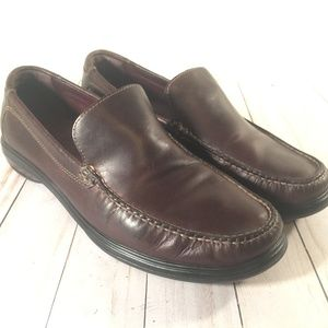 Cole Haan Brown leather slip on loafers